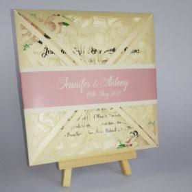 Laser Cut wedding invite ireland - pink