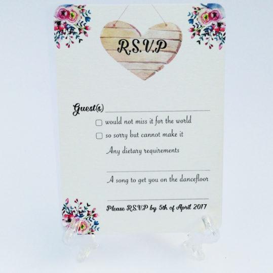 Floral Charm RSVP Card