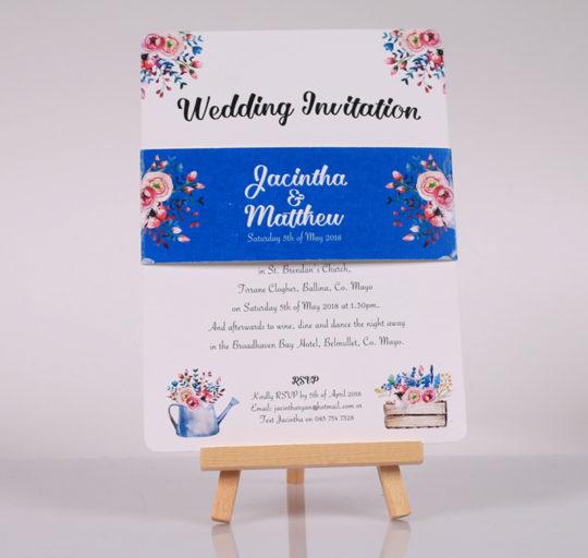 Floral Charm modern rustic wedding Invite