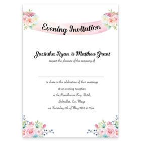 Summer Blossom Evening Invite