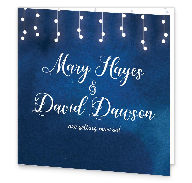 starry night folding wedding invitation loving invitations
