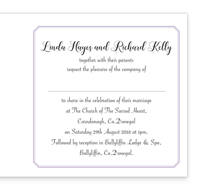 Lilac Love Folding Wedding Invitation   Loving Invitations