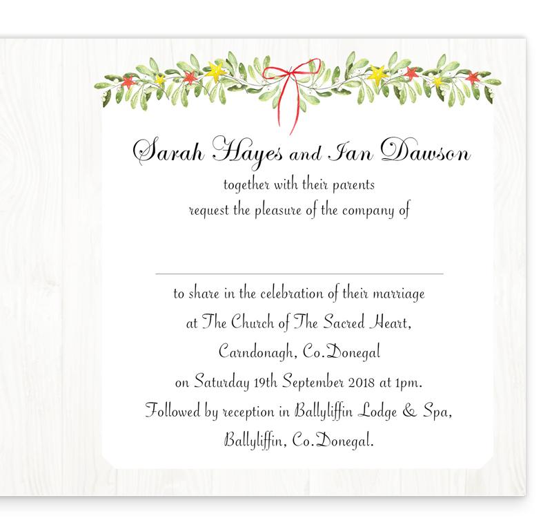 Shimmering Garland Folding Wedding Invitation   Loving Invitations