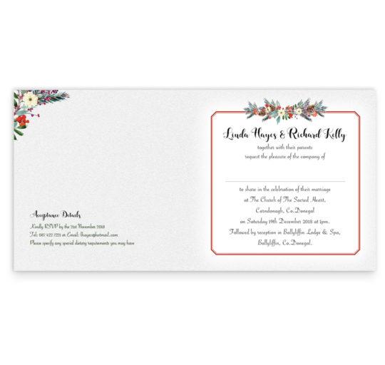 Red Romance Folding Wedding Invitation_inside_2
