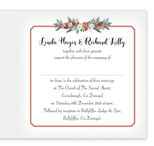 Red Romance Folding Wedding Invitation_inside