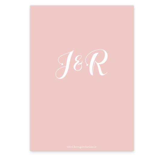 Pink Silver Foil Wedding Invite_back