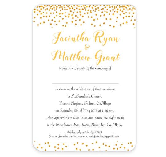 Sparkle Foil Flat Wedding Invite