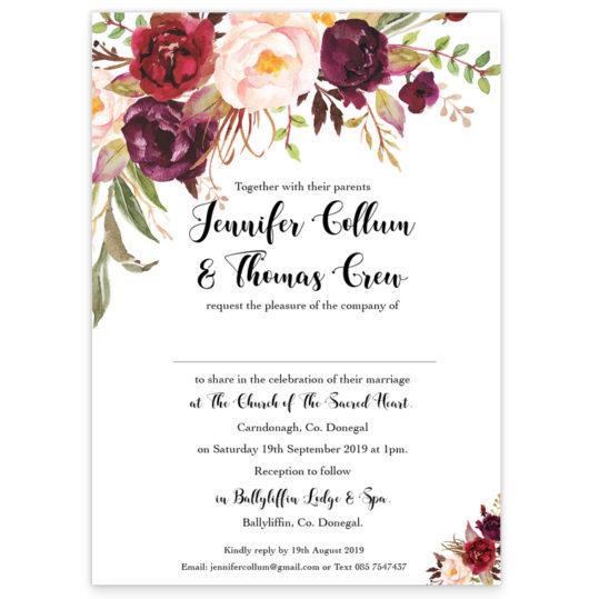 Floral Love Wedding Invitation