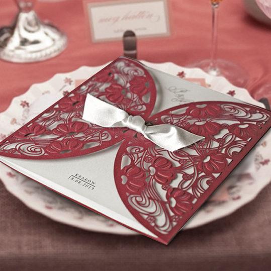 Burgundy Laser Cut wedding invitation_2