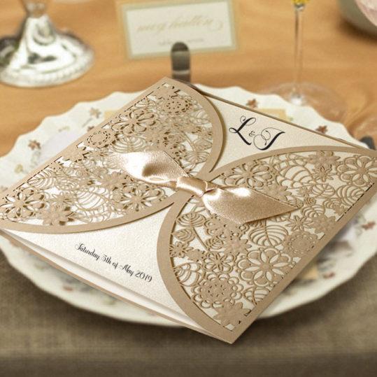 Botanical Laser cut wedding invitation_3