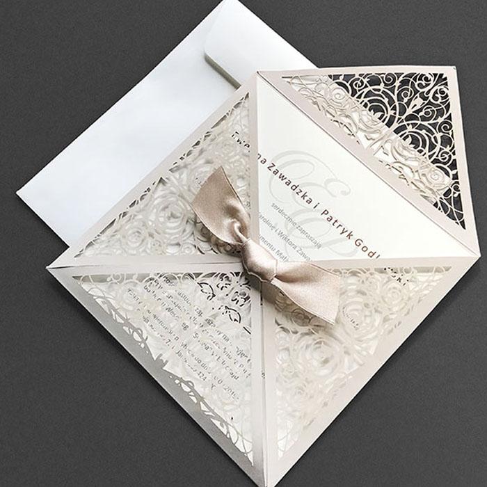 Floral 4 fold laser cut wedding inviation_2