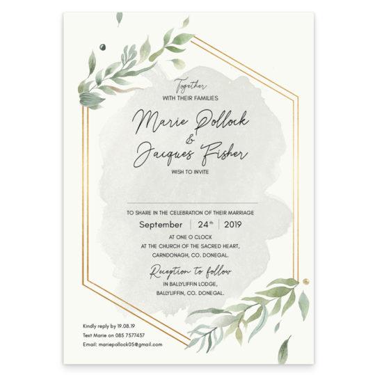 Beautiful Botanical Flat Invite_front