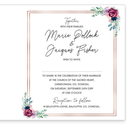 Delicate Blooms Colour Folding Wedding Invite_inside