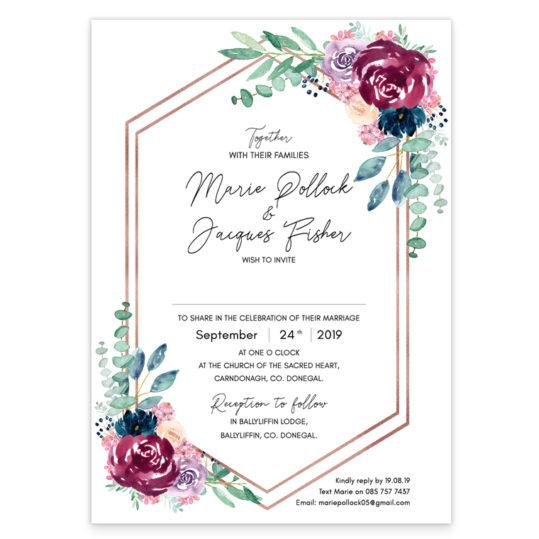 Delicate Blooms Flat Wedding Invite