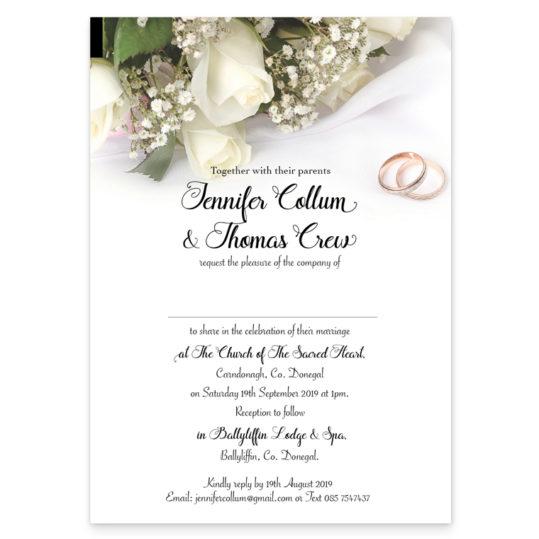 Wedding rings Wedding Invitation_rectangular