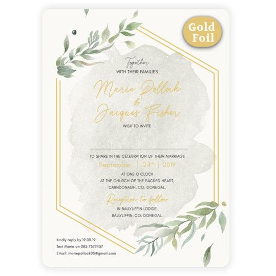 Beautiful Gold Botanical Flat Invite_Gold_front