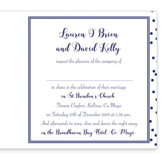 Silver Snow Folding Wedding Invite Navy_inside