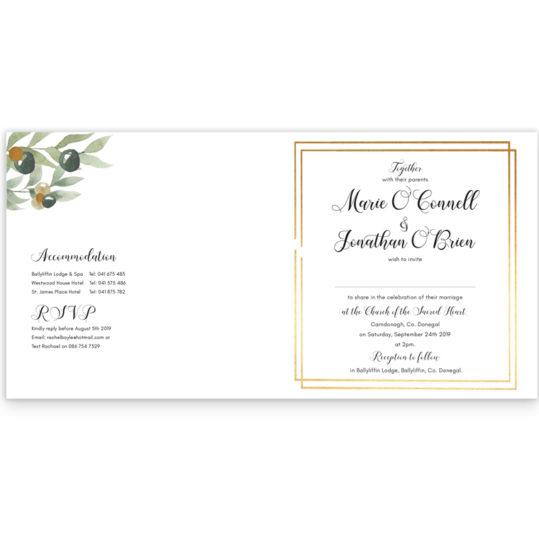 Beautiful Botanical Folding Wedding Invite_inside2