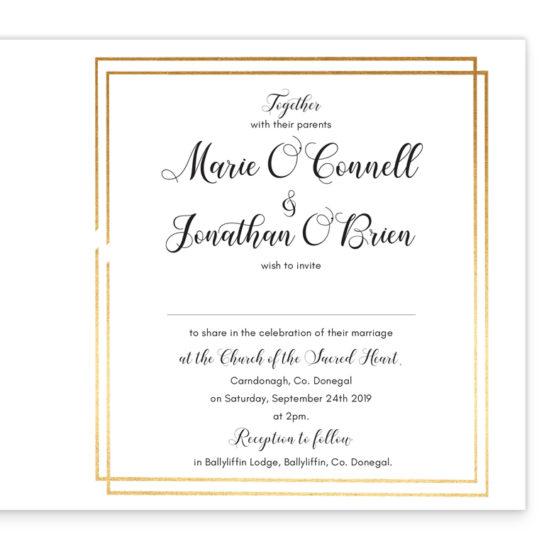 Beautiful Botanical Folding Wedding Invite_inside