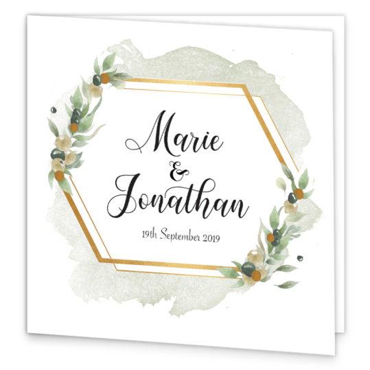 Beautiful Botanical Folding Wedding Invite_front