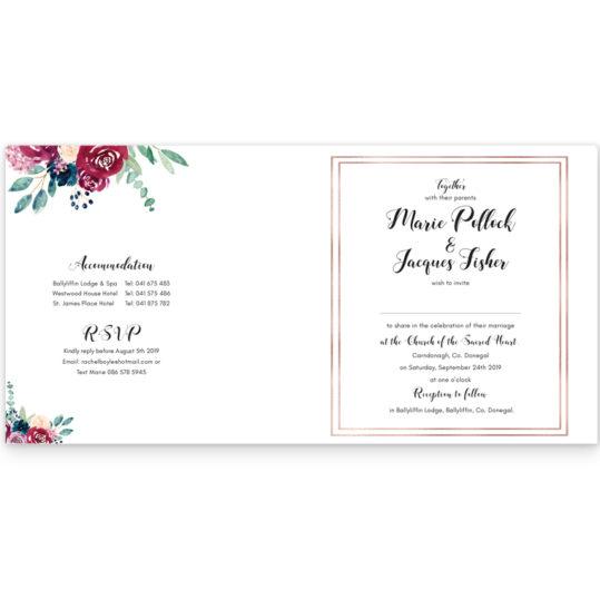 Delicate Blooms Folding Wedding Invite_inside_2
