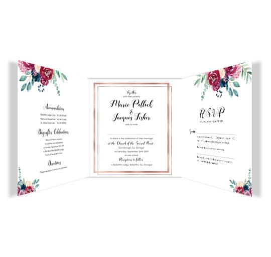 Delicate Bloom Tri-fold Wedding Invite_inside