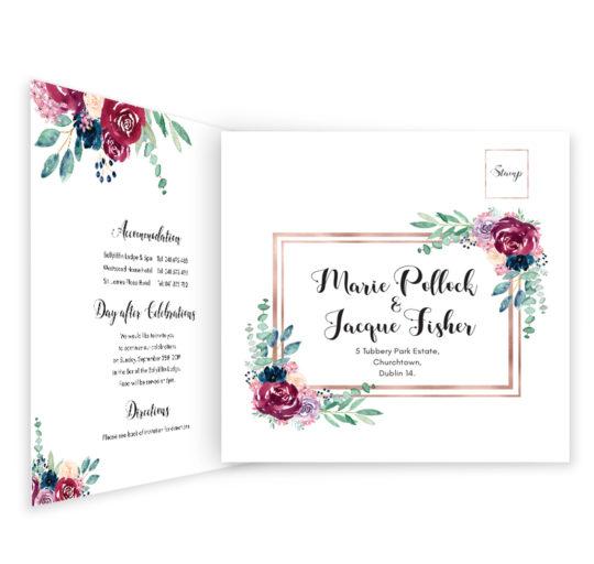 Delicate Bloom Tri-fold Wedding Invite_inside_2