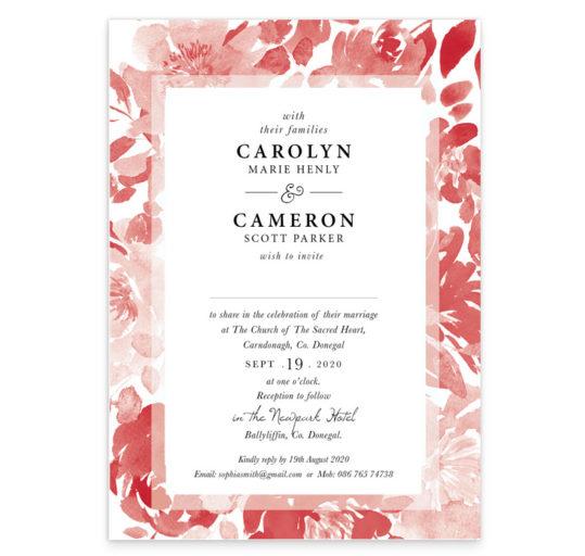 Ruby Rouge Flat Wedding Invitation