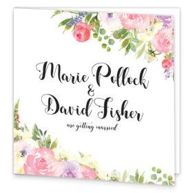 Blush Rose Folding Wedding Invite front