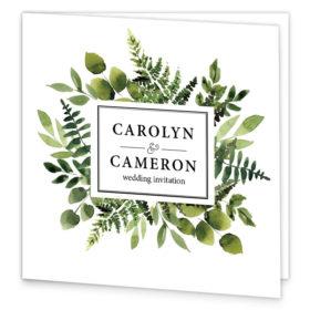 Forest Green Folding Wedding Invite