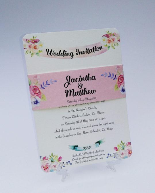 Summer Blossom Wedding Invitation sample