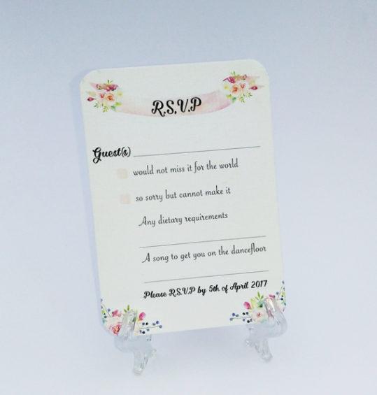 Summer Blossom Wedding Invitation