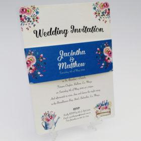 Floral Charm Wedding Invitation sample