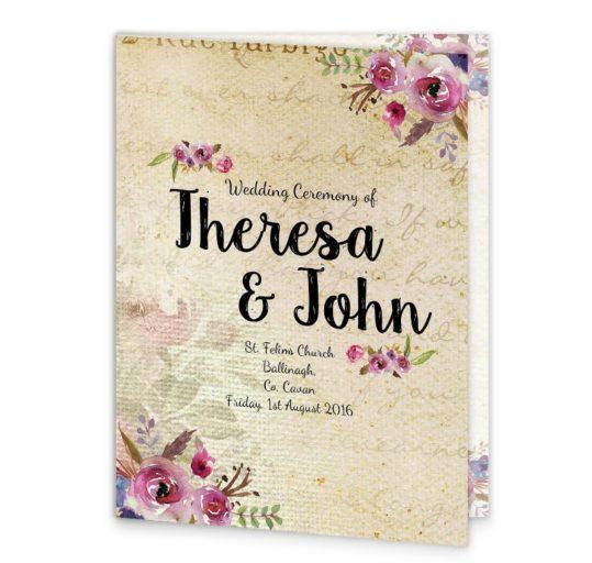 Antique Floral Mass Booklet Cover