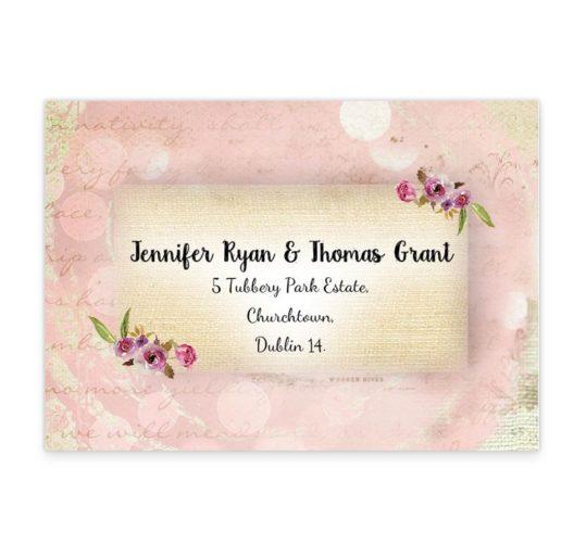 Antique Floral Wedding RSVP