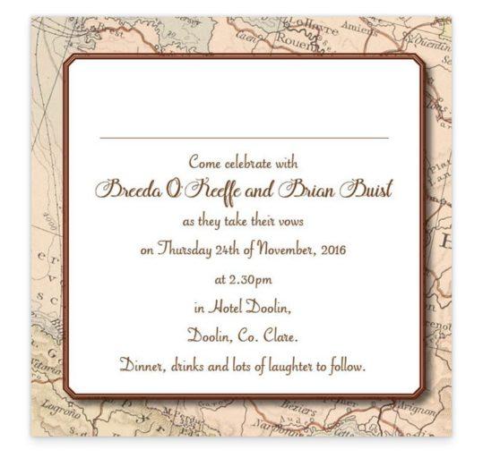 Around The World Flat Wedding Invite Sample