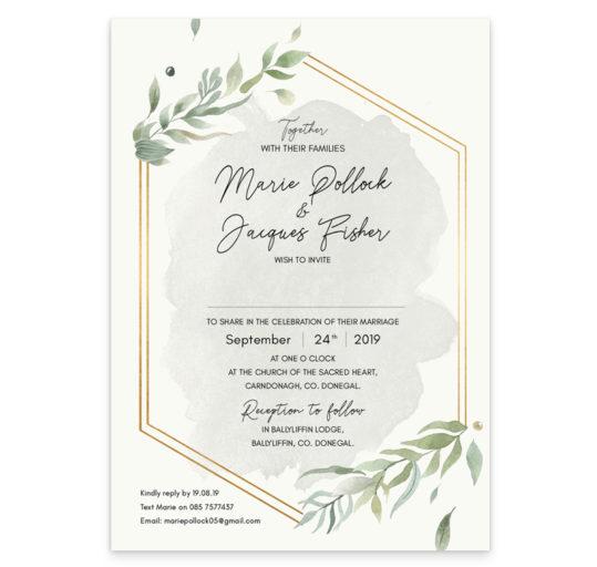 Beautiful Botanical Wedding Invitation