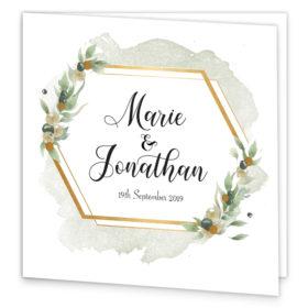 Beautiful Botanical Folding Wedding Invitation sample