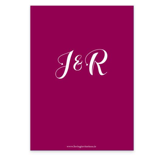 Script Foil Wedding Invite_Burgundy