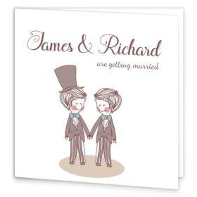 Mr & Mr Folding Wedding Invite Sample