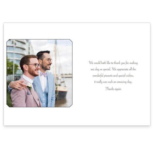Mr & Mr Thank You Card