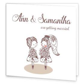 Mrs & Mrs Folding Wedding Invite Sample