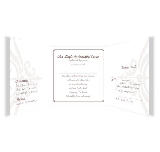 Mrs & Mrs Tri-fold wedding invite & rsvp