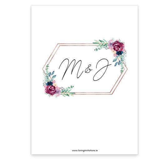 Delicate Bloom Wedding Invitation