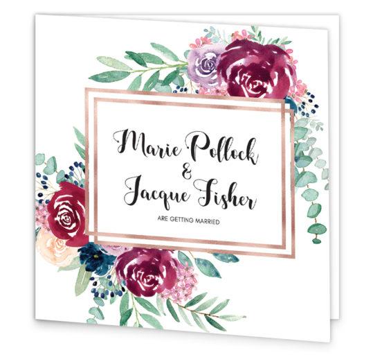 Delicate Bloom Folding Wedding Invitation sample