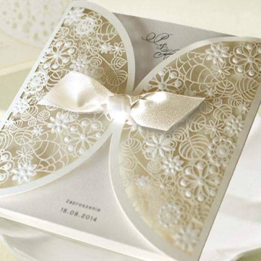 Romantic Laser Cut Wedding Invitation sample