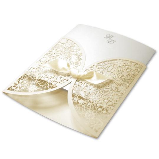 Romantic Laser Cut Wedding Invitation