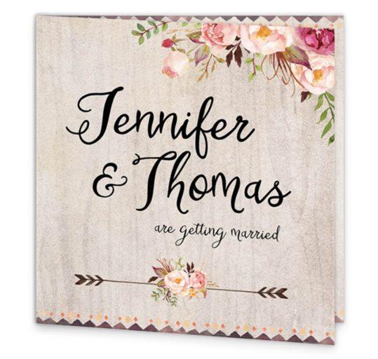 Flowering Affection Folding Wedding Invitation sample