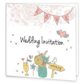 Midsummer Dream Folding wedding invite Sample