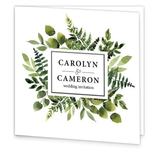 Sunny Forest Folding Wedding Invitation sample